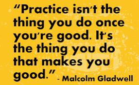 Practice quote